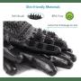 Gants noir poil et massage