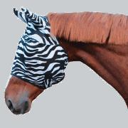 masque anti mouche zebra